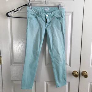 Express Distressed Mint Ankle Jeans (4)